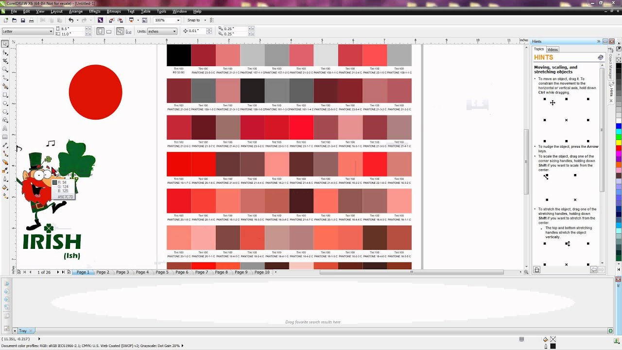 Corel how to select a spot color using the pantone color chart corel how to select a spot color using the pantone color chart youtube nvjuhfo Images