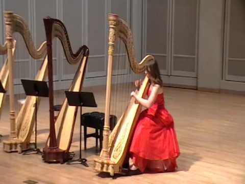 Madison Muncie Plays Sonata At IU Pre-College Harp Spring Recital