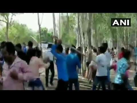 TMC workers, security personnel clash at polling booth in West Bengal