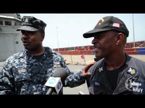 US Navy docks in Jamaica