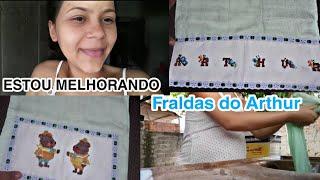 ESTOU MELHORANDO | CHEGARAM ALGUMAS FRALDAS DO ARTHUR | Nadja Meyre