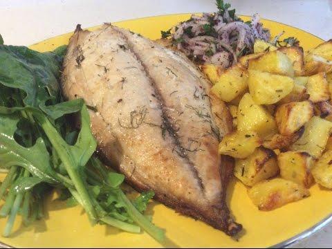 BAKED BONITO FISH & POTATOES  RECIPE - Healthy and easy!