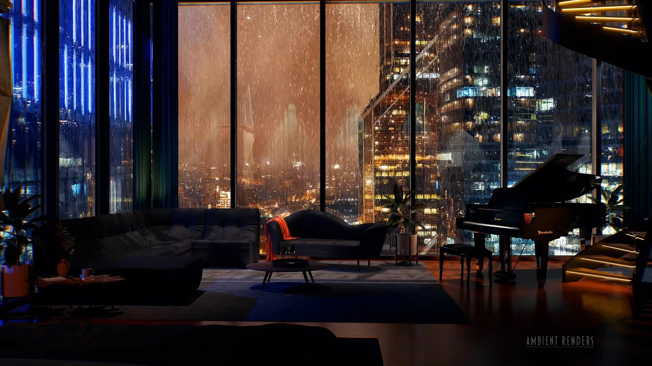 Download Relax In An Exclusive Hotel With A View Of Moscow | Rain, Thunder & City Sounds | Sleep Fast | 8Hrs