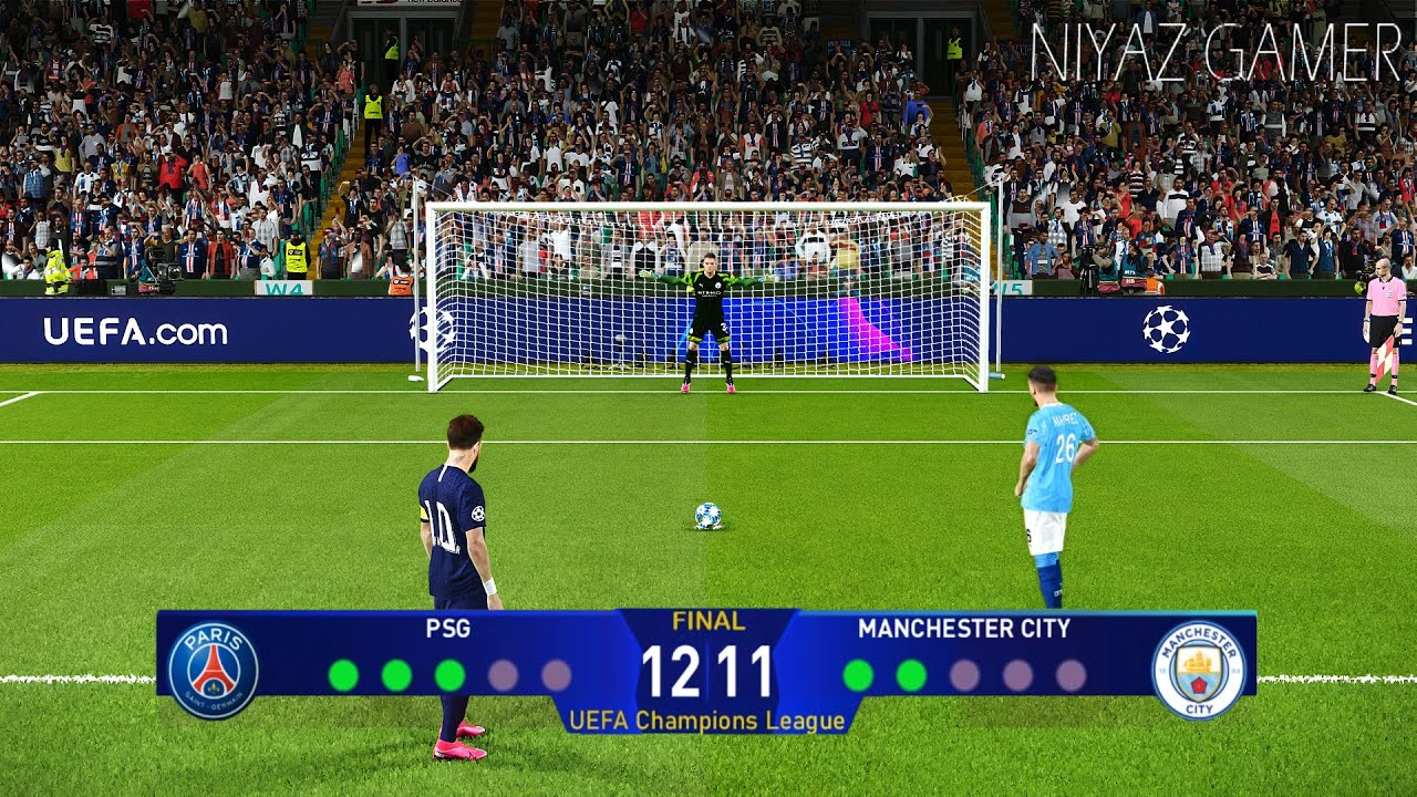 PES 2020 | PSG vs Manchester City | UEFA Champions League Final UCL |  Penalty Shootout Gameplay - YouTube
