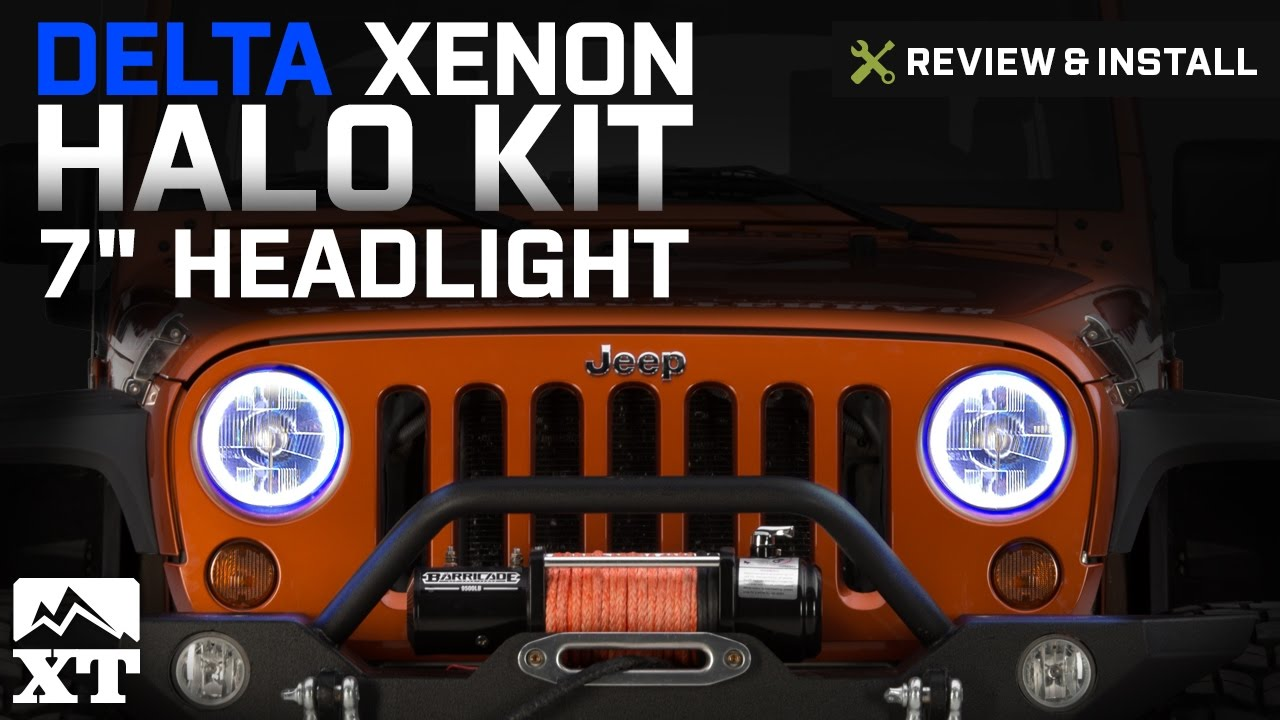 7 Led Halo Jeep Headlight Wiring Diagram Trusted Wrangler Delta Xenon Kit 2007 2017 Jk Pontiac G6