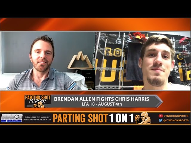 LFA 18's Brendan Allen talks quick turnaround, full camp at Roufusport & DWCS