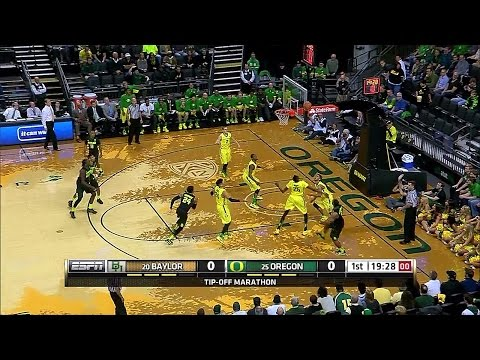 Baylor Bears vs Oregon Ducks  NCAAM  11-16-2015