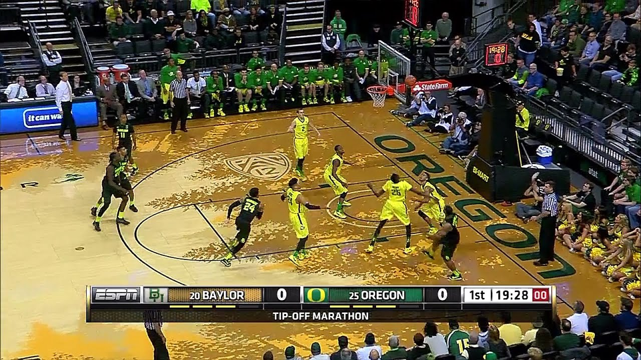 Baylor Bears vs Oregon Ducks NCAAM 11-16-2015 - YouTube