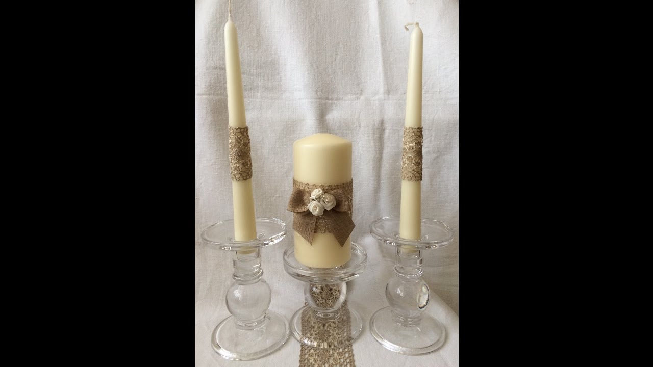Save Money Make Your Own Gifts Rustic Unity Candle For A
