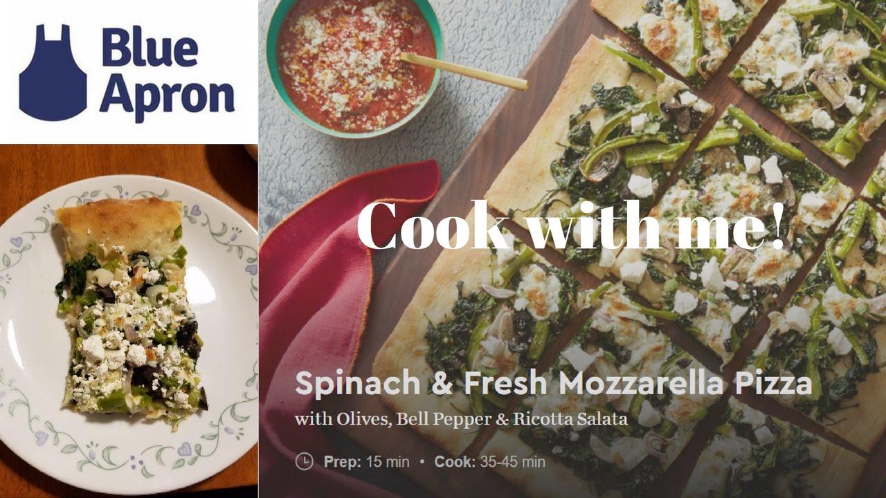 Blue apron spinach pizza - Blue Apron Meal Spinach Fresh Mozzarella Pizza