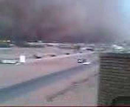 Tempesta di sabbia a Khartoum (Sudan)