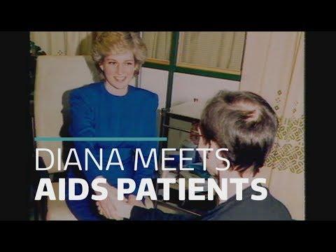 Remembering Diana: Princess meets AIDS patients