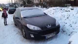 Peugeot 407 1.6 HDI cold start -17ºC