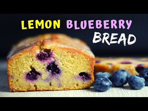 Lemon Blueberry Bread (made with oats only!)
