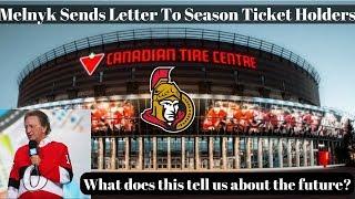 NHL Trade Talk - Does Melnyk Letter Indicate more Trades for Senators?