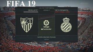 FIFA 19 - LaLiga Santander - Sevilla Fc vs. Rcd Espanyol @ Ramón Sánchez-Pizjuán