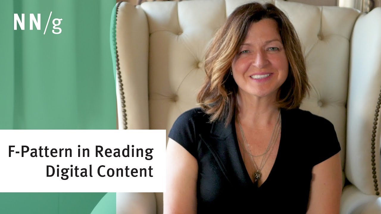 f-pattern in reading digital content - youtube