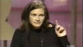 Julia Roberts introduces James Gandolfini @ GQ Awards 2000