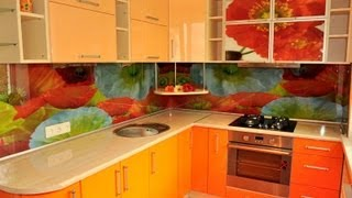 кухня современный дизайн оранжевые фасады - фотопечать (скинали) (на заказ в Харькове)(Оранжевый цвет добавляет кухне энергии и стимулирует к действию. Он одинаково хорош для помещений разных..., 2013-10-03T14:48:28.000Z)