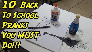 10 Back To School Pranks You Must Do - HOW TO PRANK (Evil Booby Traps) | Nextraker