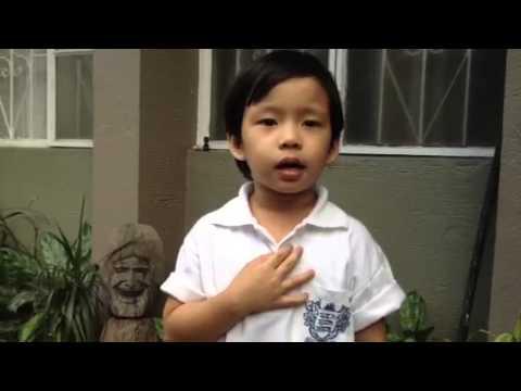 Lupang Hinirang by a 4-yr. old kid named Worth