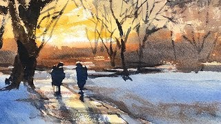 "Advancing with Watercolor: Unity ""Winter Thaw"""