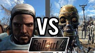 Fallout 4 Battles 5 Paladin Danse vs. 50 Synths