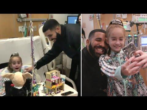 Drake Surprises 11-Year-Old Girl Awaiting Heart Transplant in Chicago Hospital