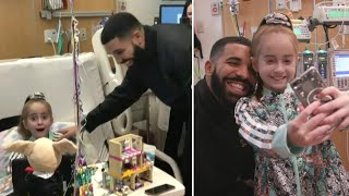 Drake Surprises 11-Year-Old Girl Awaiting Heart Transplant in Chicago Hospital thumbnail