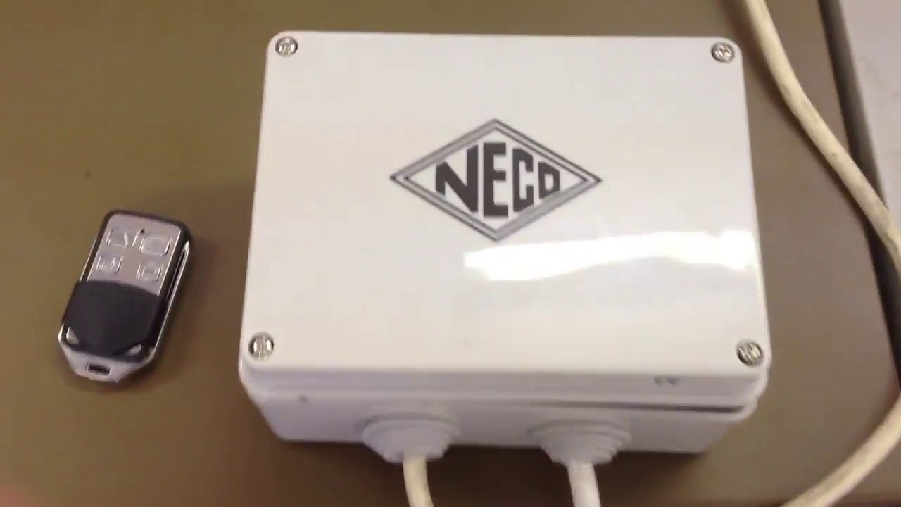 how to add a new key fob remote to neco remote roller door controller