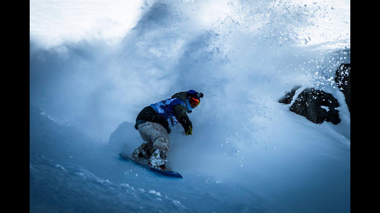 Freestyle Snowboarding Contest - Red Bull Powder Escape ... Shredding Snow