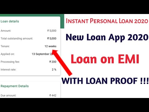 Instant Personal Loan || Instant Loan App 2020 || No Salary Slips || with Loan Proof ( EMI Loan )