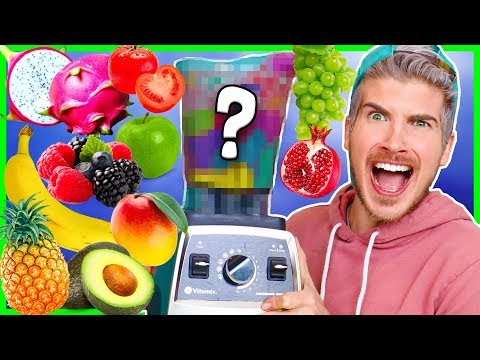 MIXING EVERY KIND OF FRUIT TOGETHER! (Extreme Smoothie Taste Test)