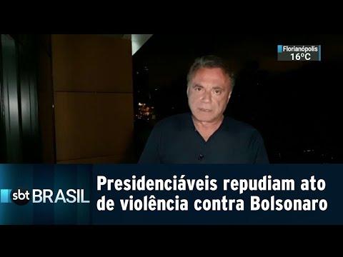 Presidenciáveis repudiam ato de violência contra Bolsonaro | SBT Brasil (06/09/18)