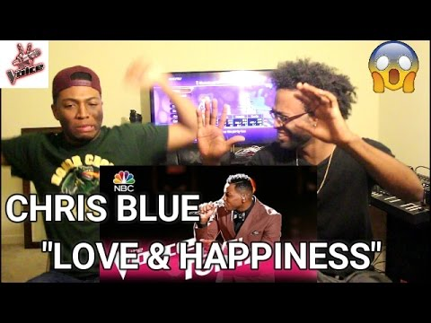 """The Voice 2017 Chris Blue - Top 12: """"Love and Happiness"""" (REACTION)"""