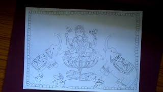 madhubani painting of maa lakshmi