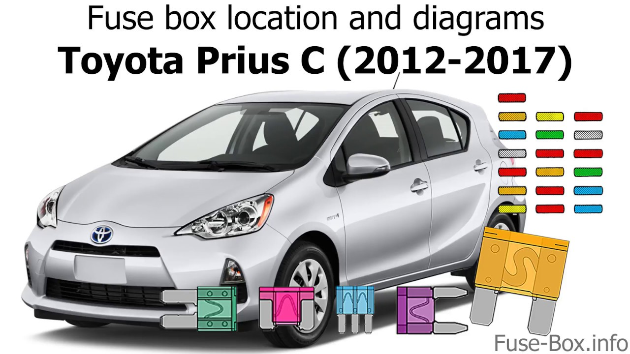 medium resolution of fuse box location and diagrams toyota prius c 2012 2017