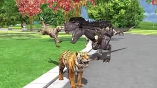 Dinosaurs Cartoon Short Movie For Children | Dinosaurs Movie Fighting For Children 2017