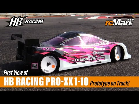 First View Of HB Racing Pro-XX 1/10 Prototype On Track! - Driver Atsushi Hara