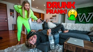 D.R.U.N.K BOYFRIEND PRANK ON GIRLFRIEND!