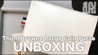 (UNBOXING) Thom Browne Large Coin Purse-White