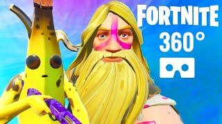 360° FORTNITE VR 360 video Jonesy Beard & Banana skin Google Daydream View