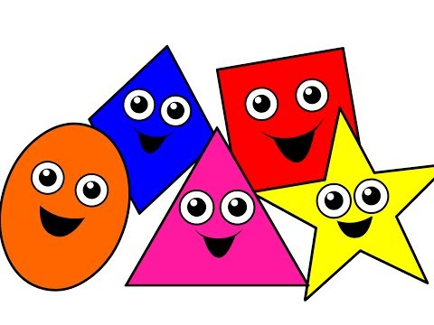 """Shapes Songs Collection Vol. 1"" - 35 Mins of Baby, Toddler, Kindergarten Kids Learning Videos"