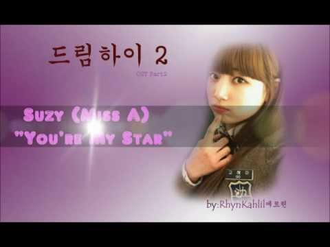 Suzy 수지 (MissA) - You're My Star  English+Hangul+Romanization Lyrics