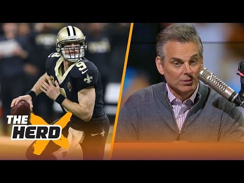 Colin Cowherd reacts to Drew Brees and Cam Newton's play during Sunday's playoff matchup | THE HERD