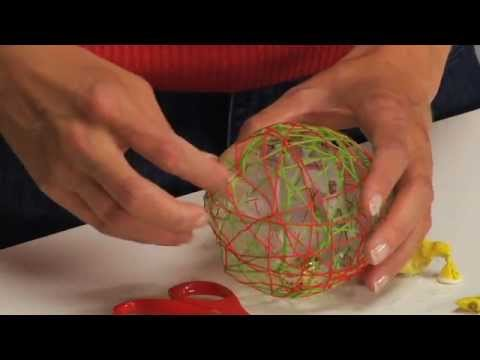 String Ball Christmas Ornament Tutorial YouTube Awesome Make Decorative String Balls