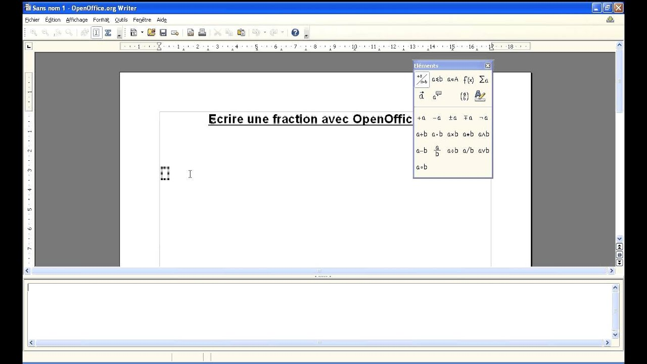 Ecrire une fraction avec openoffice jacques le vot youtube - Comment faire un organigramme sur open office ...