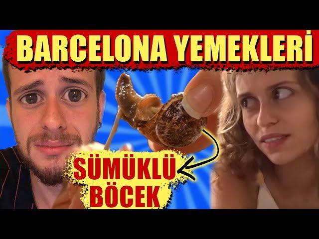Barcelonan?n En ?lginç Yemekleri! (Sümüklü Böcek ve Dahas?!!!)