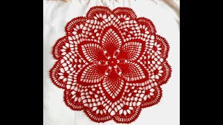 "Салфетка крючком ""Весенняя""_Часть_2_Doily crochet ""Spring"""