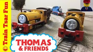 Bill and Ben Sodor China Clay Co join Thomas & Friends Toy Train layout